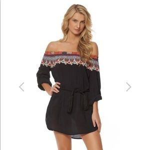 Red Carter Bohemian Breeze Off The Shoulder Cover